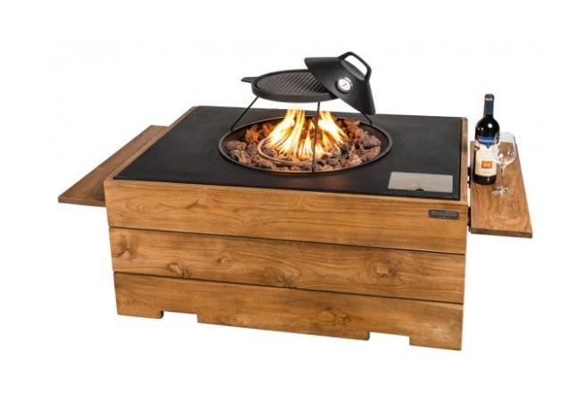 Side table hout set 2 stuks