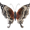 Metaal vlinder bruin met zilver model 5