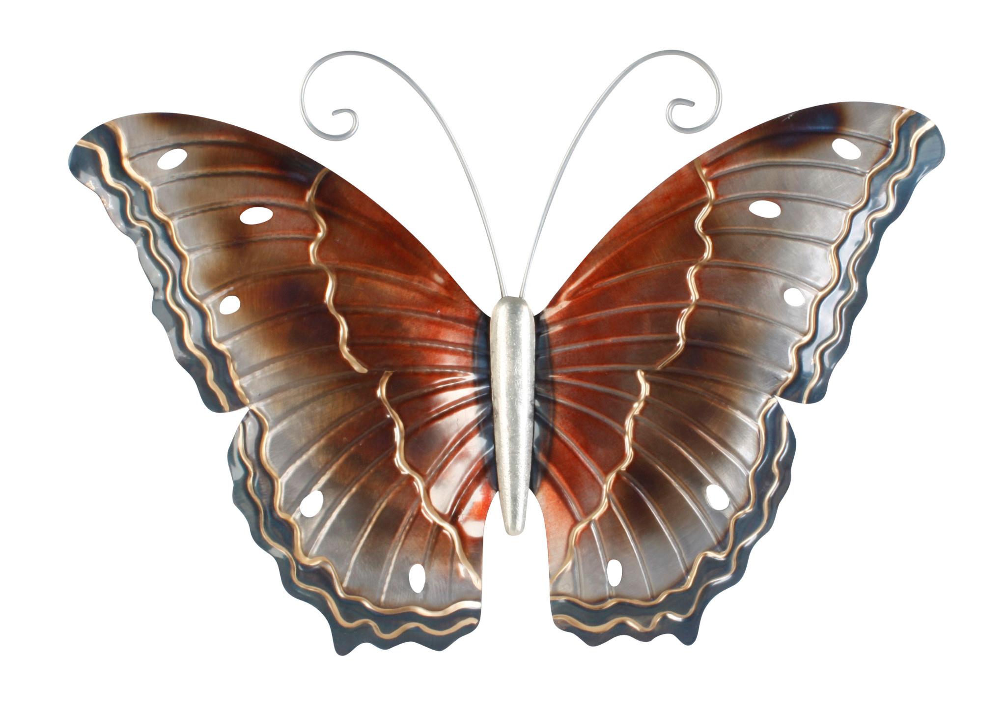 Metaal vlinder bruin model 2
