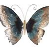 Metaal vlinder blauw model 3