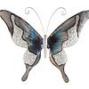 Metaal vlinder blauw met zilver model 4