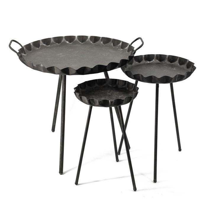 Bijzet tafels metaal set van 3