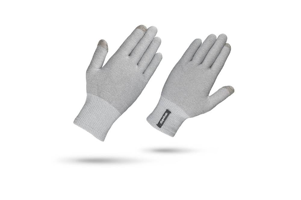 GRIPGRAB Merino Liner Winter Glove Medium Grey