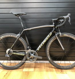 SPECIALIZED Pre Loved Tarmac Ultegra Di2 11 speed Mavic wheels 56 cm Large Black/Hyper Green