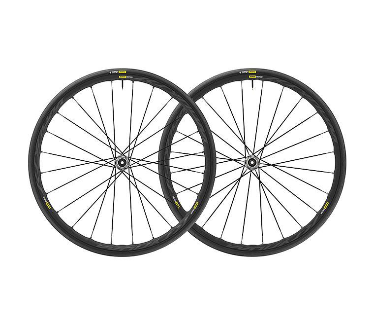 MAVIC 2019 Mavic Ksyrium Elite UST Disc C/Lock Pair 12mm M-25 Black