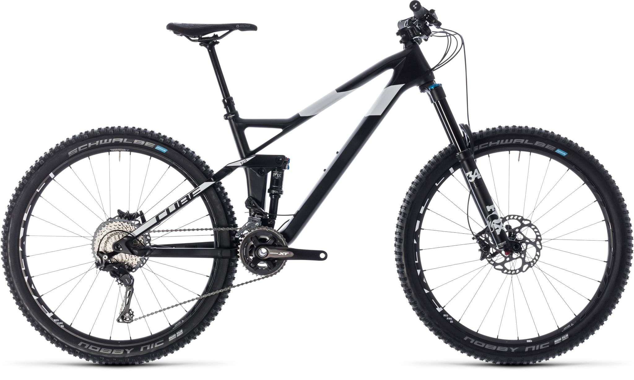 """CUBE Pre-Loved CUBE STEREO 140 HPC SL 27.5 CARBON/WHITE 2018 18"""" 27.5inch (13.50 KG)"""