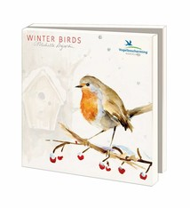 Greeting cards of Dutch birds in winter