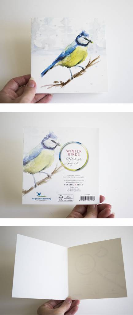 Winter Wensenkaarten met  Nederlandse bosdieren voor Natuurmonumenten