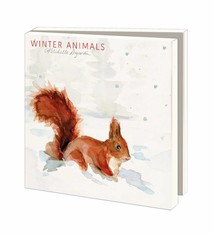 Greeting cards of Dutch animals in winter