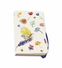 Softcover notebook A6 with butterflies and flowers
