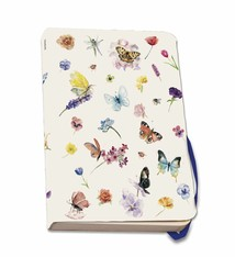 Notebook A5 with butterflies and flowers