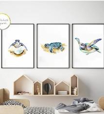 Set van 3 Schildpad prints