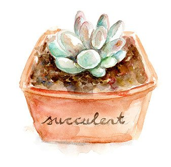 Logo design painted in watercolor