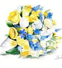 Bloemen boeket schilderij in opdracht
