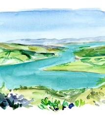 Landschap schilderij in opdracht