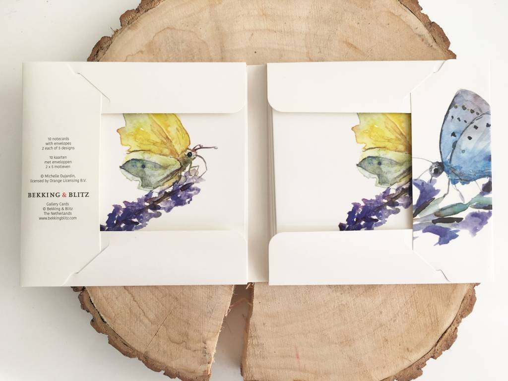 Greeting cards of butterflies and Insects