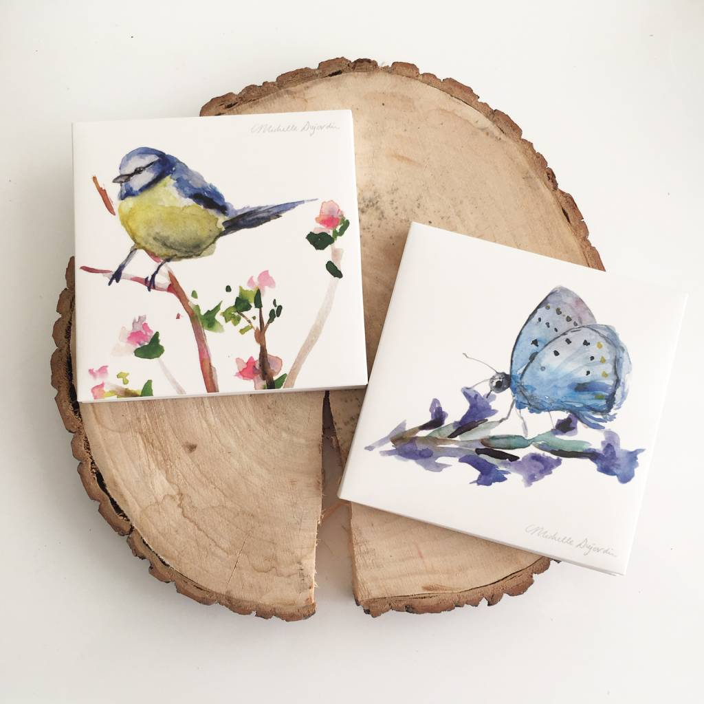 Greeting cards of birds