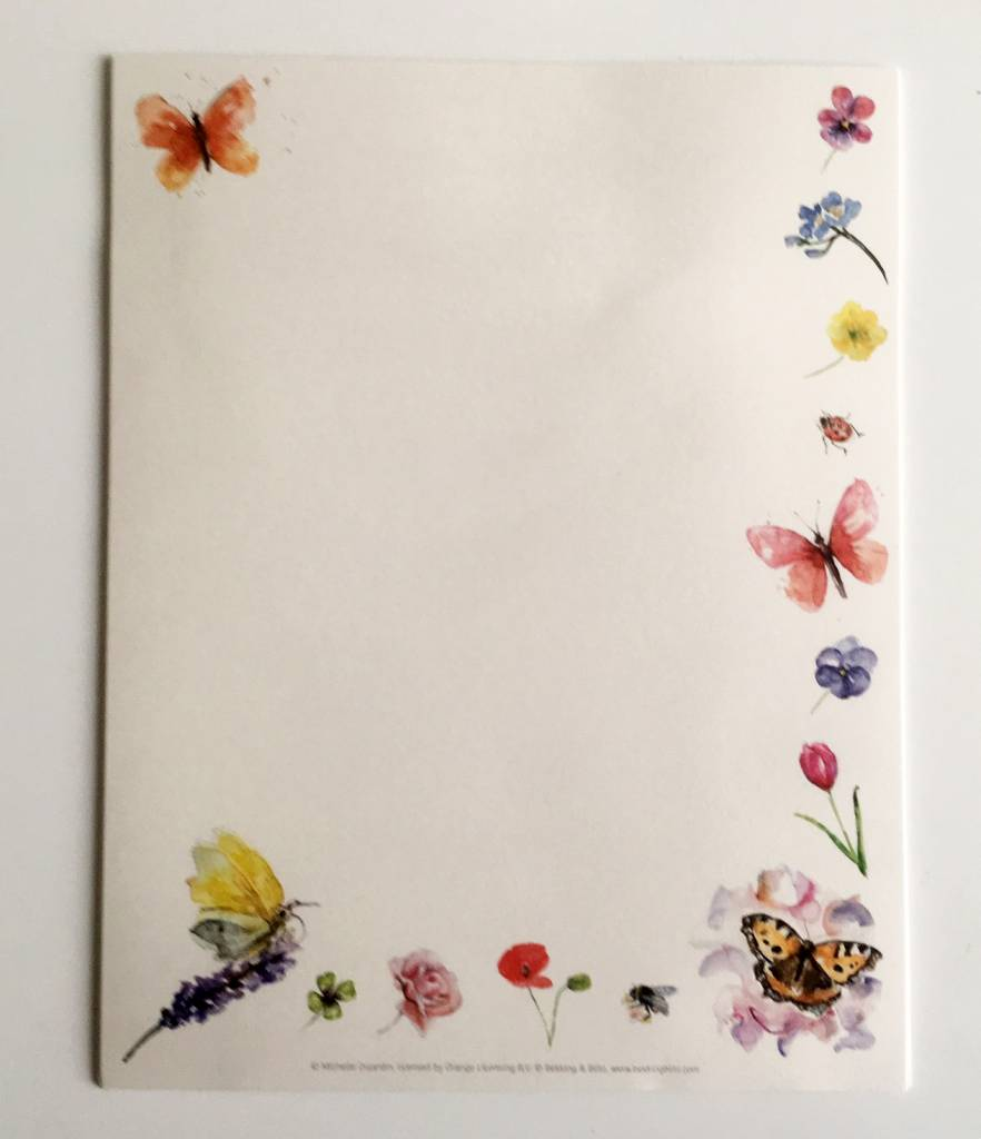 Writing set illustrated by Michelle Dujardin