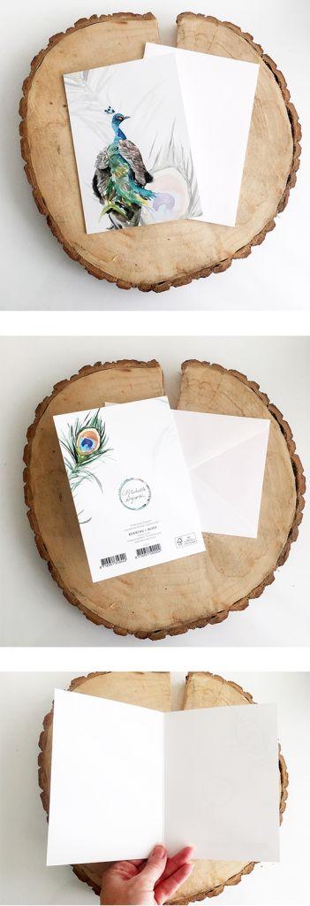 Wenskaart (naar keuze) met envelop