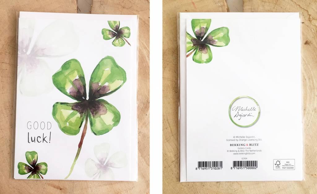 4 wenskaarten met envelop