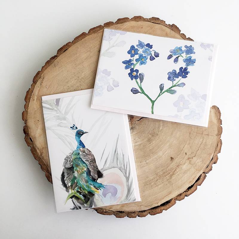 4 Greeting cards with envelope