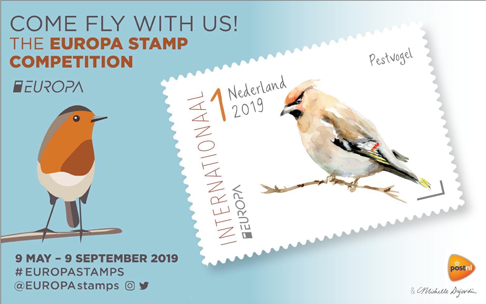 Deelname aan Europese postzegelwedstrijd 2019