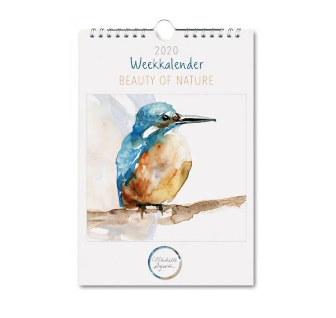 Weekkalender met 53 illustraties van Michelle Dujardin