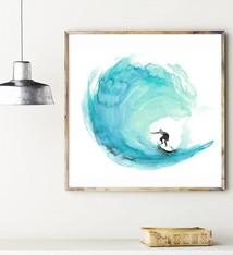 Surf aquarel print