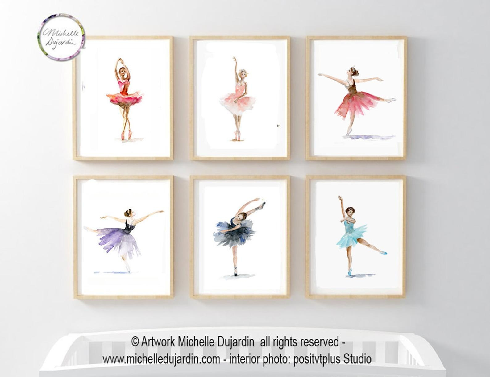 6 prints of ballet dancers