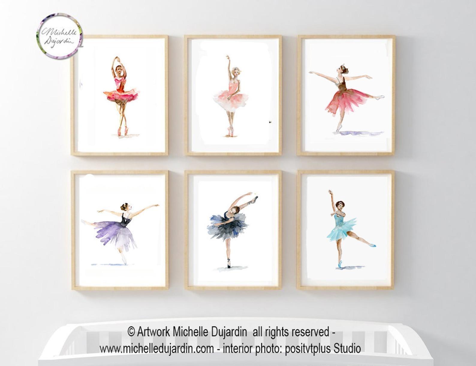 6 prints van balletdanseressen