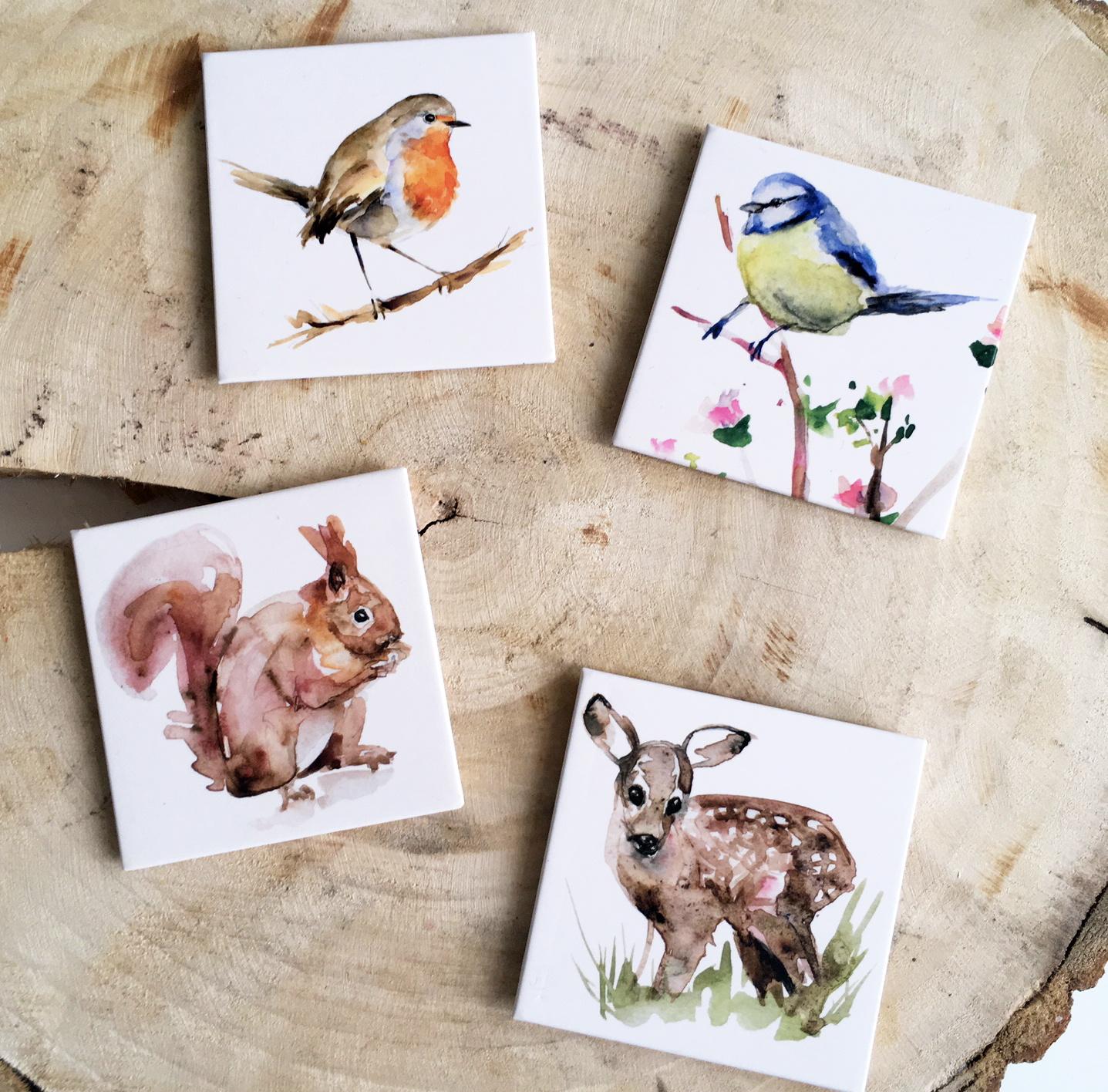 4 Fidge magnets by Michelle Dujardin