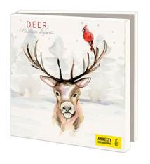 Greeting cards of Deers in winter- Amnesty International