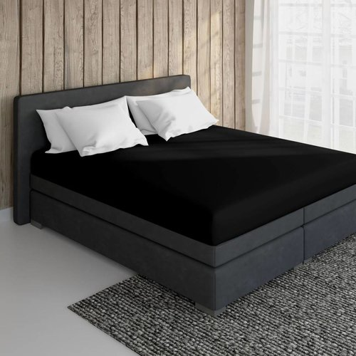 Essara Cotton Fitted Sheet Black
