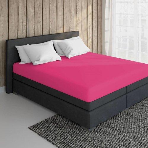 Essara Katoen Hoeslaken Roze