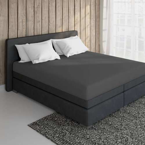 Essara Cotton Fitted Sheet Anthracite