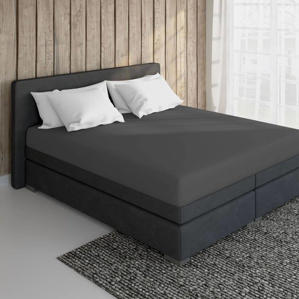 Cotton Fitted Sheet Anthracite