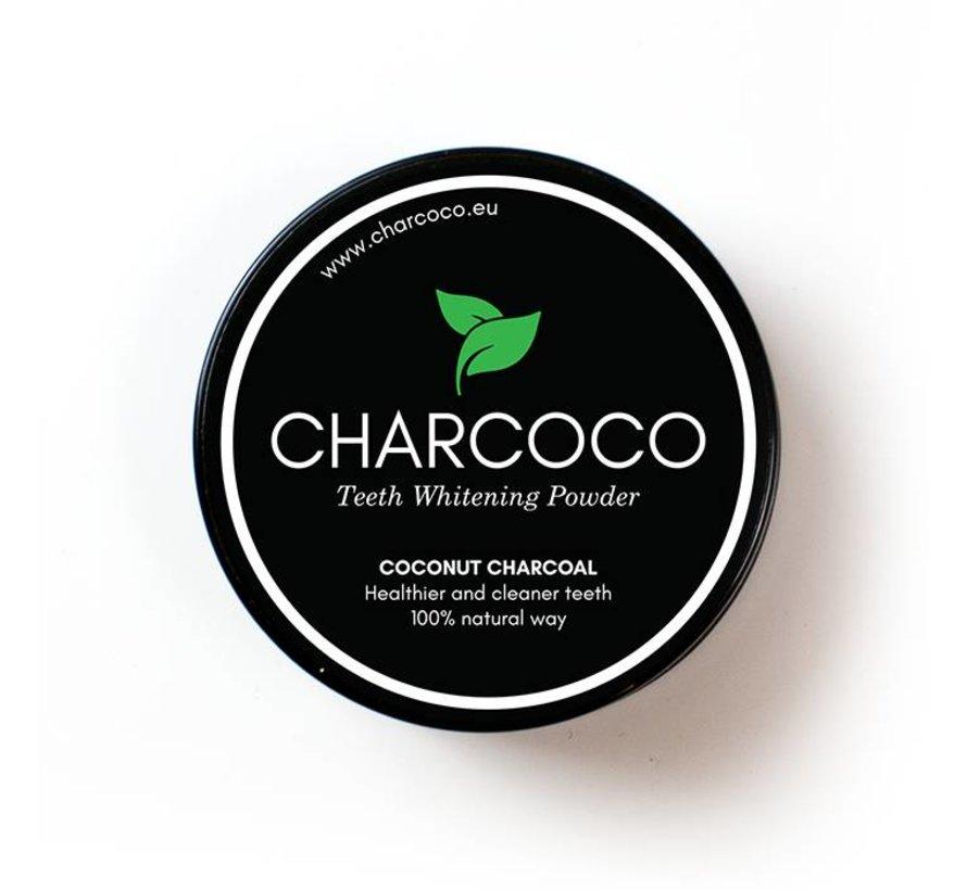 Charcoal cocosnoot  witte tanden poeder