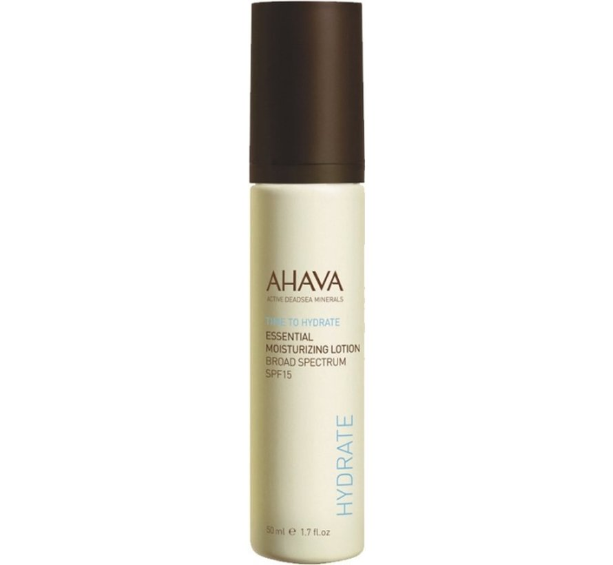 Ahava Time To Hydrate Essential Moisturizing Lotion - SPF 15 - 50 ml