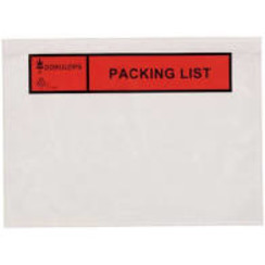 Paklijsten bedrukt ''Packing list'' C5 formaat 225 x 165 mm