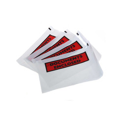 Packing lists printed C6 '' Documents Enclosed '' size  165 x 122 mm