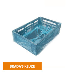 HDPE crate bag 30my blue size  68/2 x 17 x 63 cm