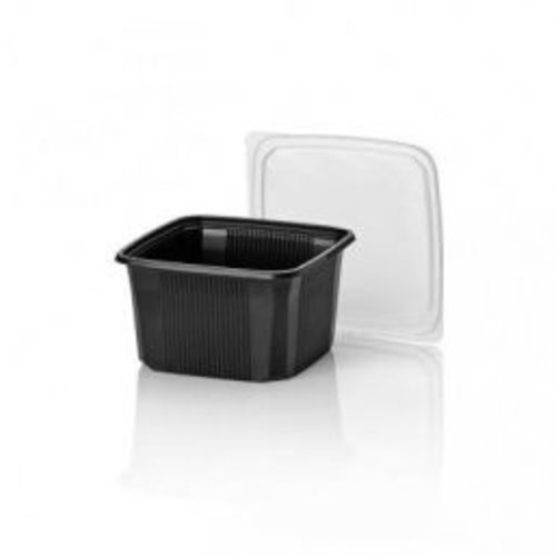 PP Lid Pond container transparent size 114 x 114 x 58 mm