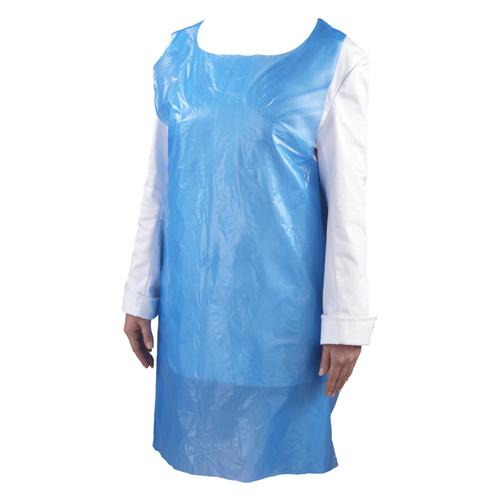 LDPE tear-off apron on block | 35my blue | size 850 x 130 cm