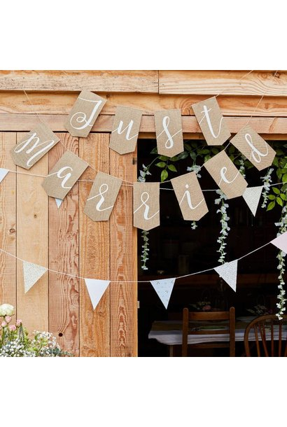 Slinger Just Married Rustic