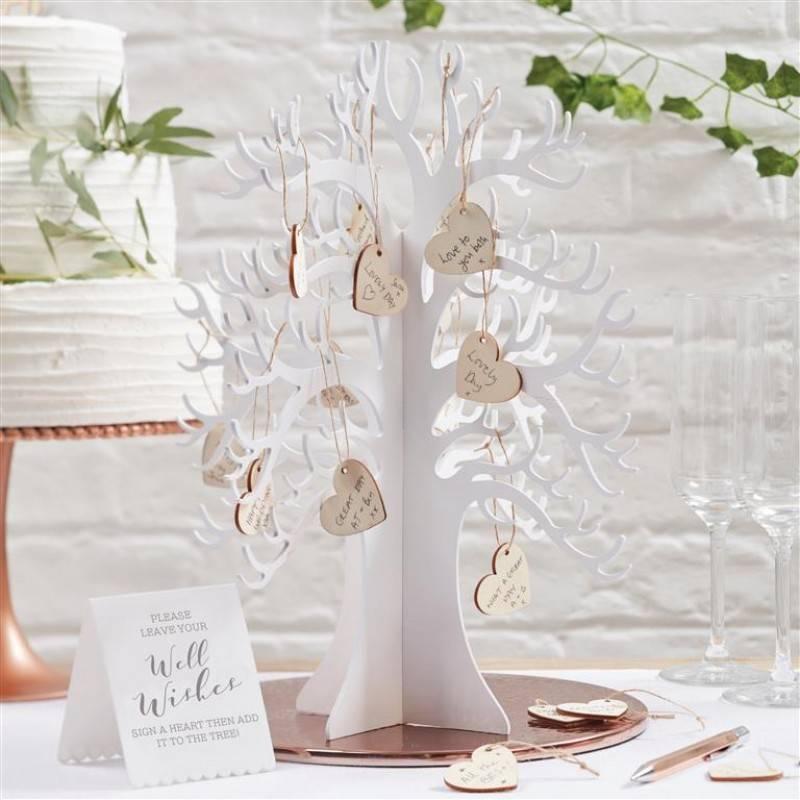 Houten wensboom met houten hartjes BB-286-2