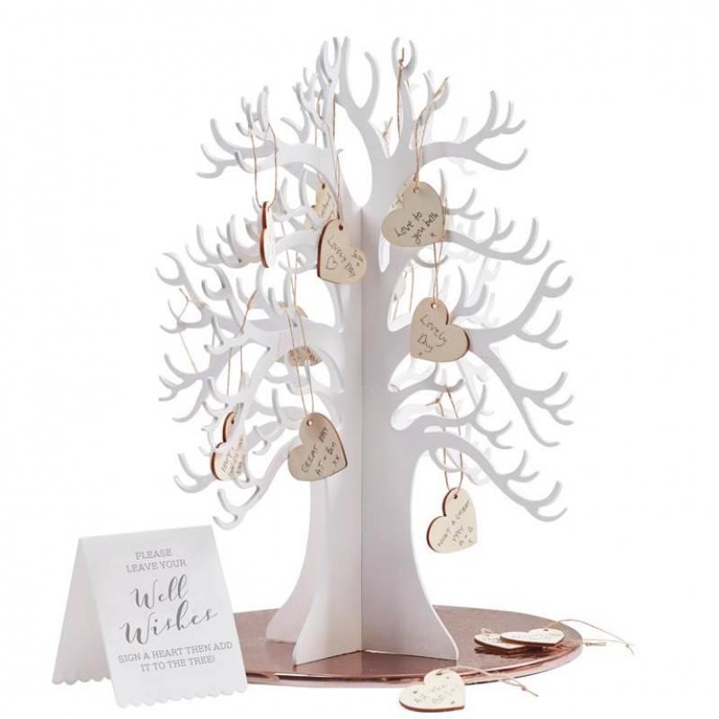 Houten wensboom met houten hartjes BB-286-1