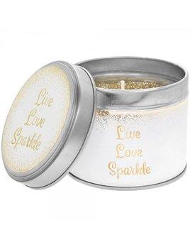 Lesser & Pavey Geurkaars in blik  | 'Live love sparkle'