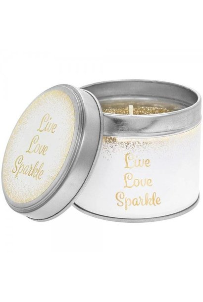 Geurkaars in blik  | 'Live love sparkle'