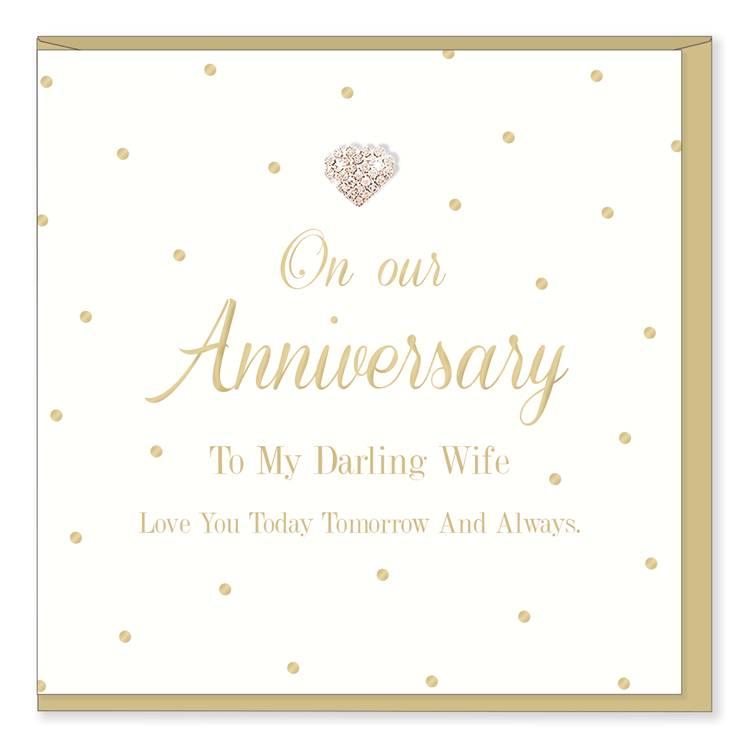 Hearts Design Bijzondere kaart | To my darling wife