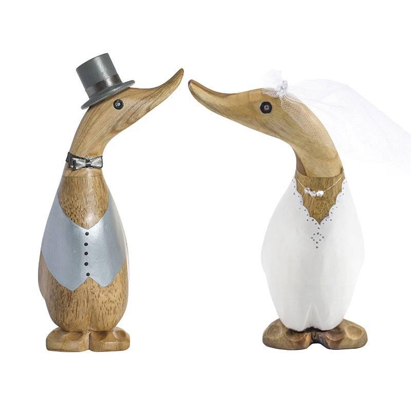 Dcuk Handmade houten eend | bruidegom